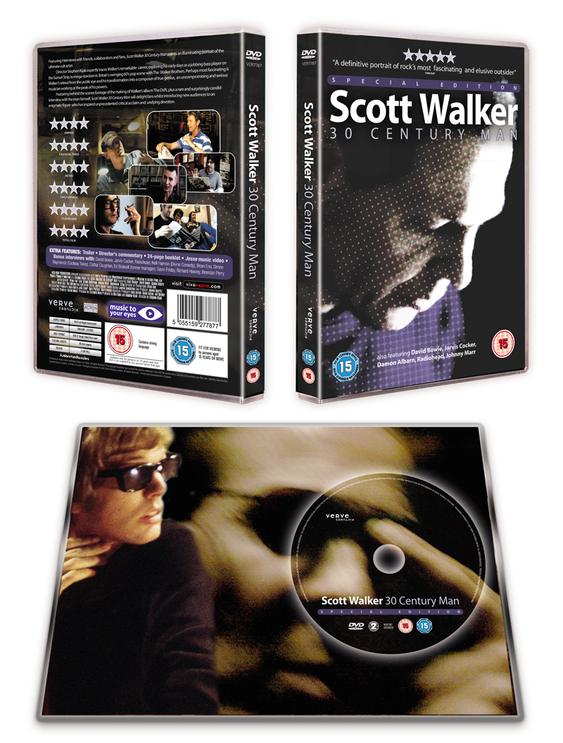 SCOTT WALKER: 30 CENTURY MAN - Special Edition DVD Sleeve, including 24 page booklet