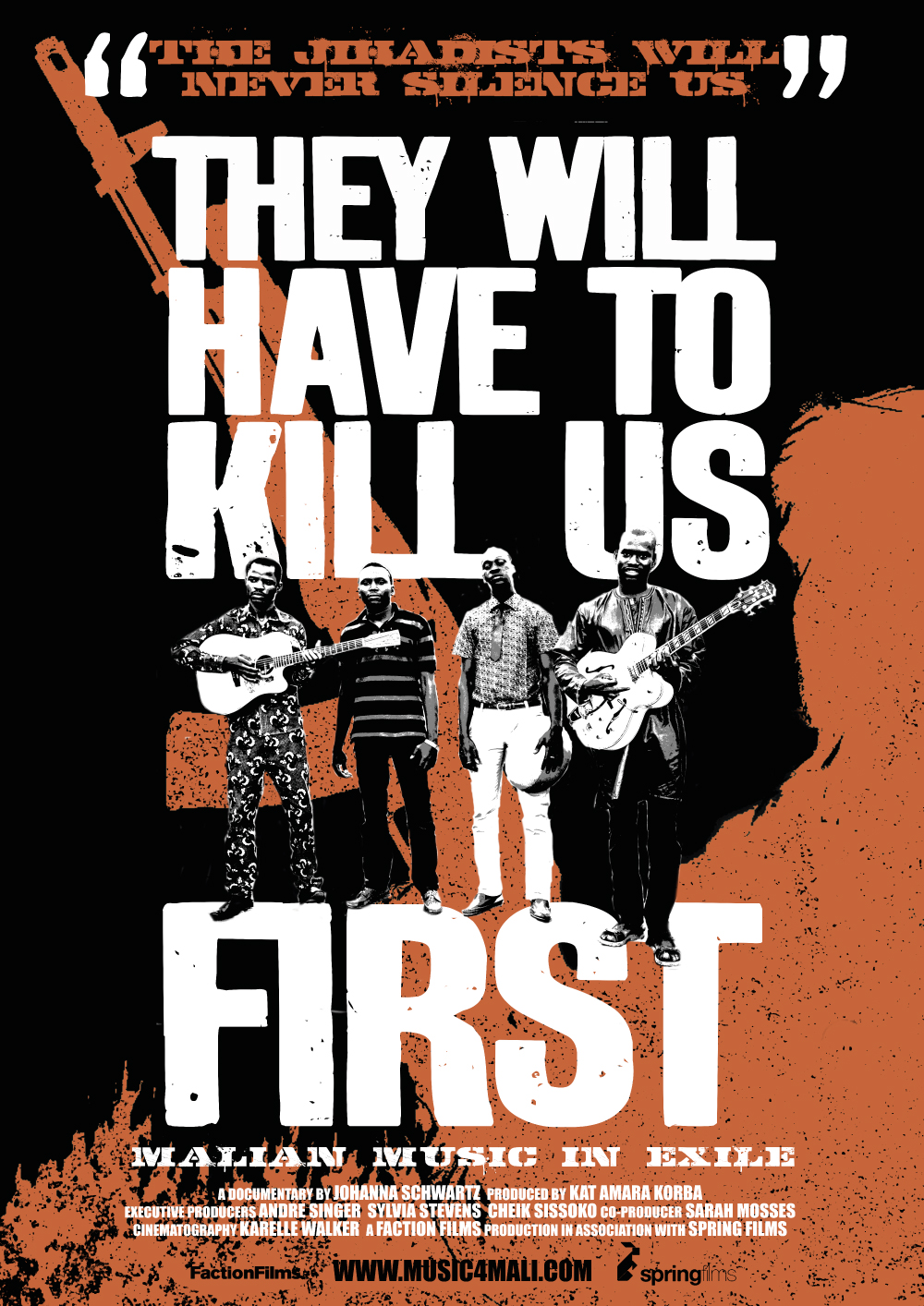 THEY WILL HAVE TO KILL US FIRST sales poster