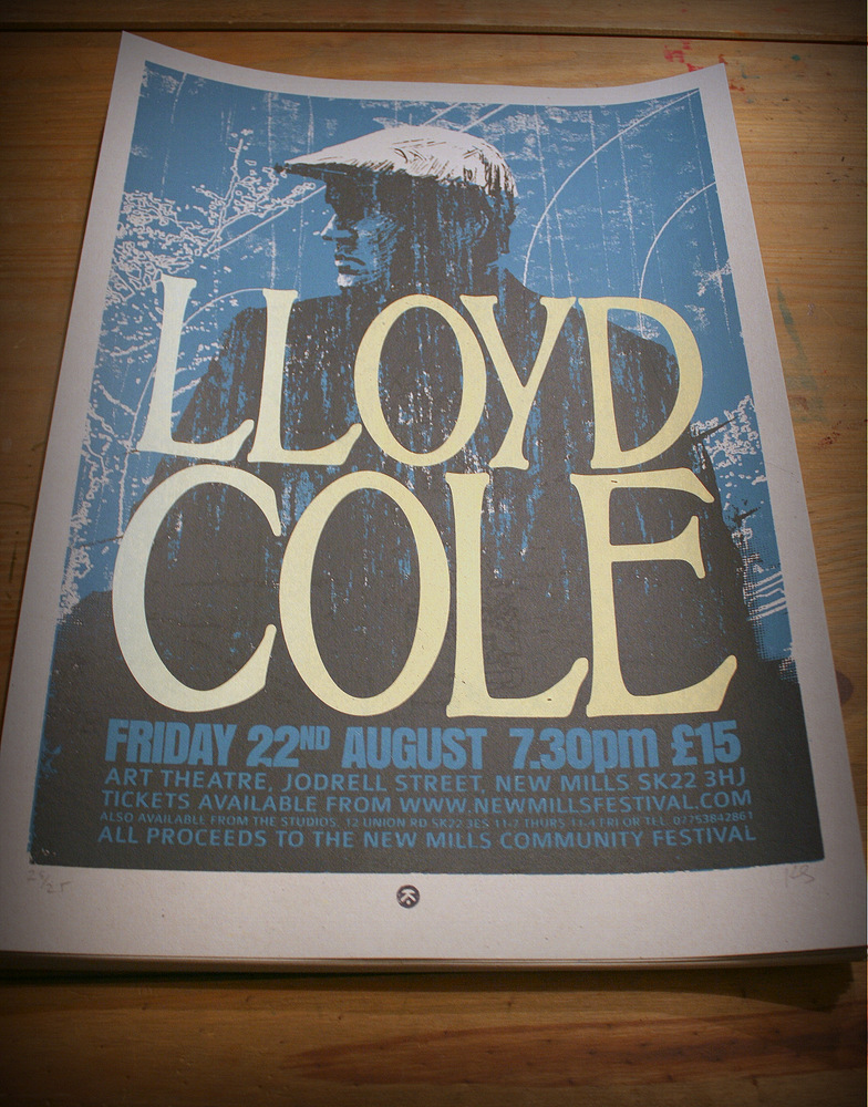 LLOYD COLE screenprinted poster