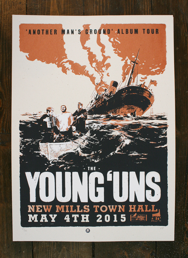YOUNG UN'S GIG POSTER limited edition screen print
