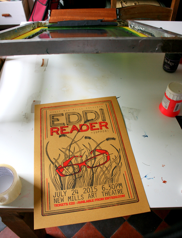 EDDI READER screenprint