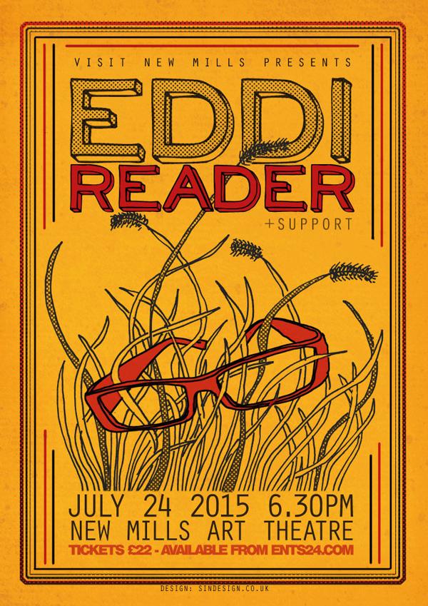 EDDI READER gig poster design