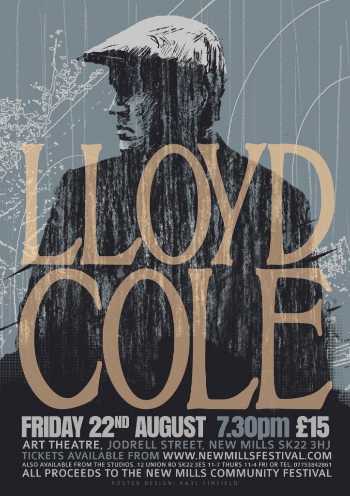 LLOYD COLE gig poster design