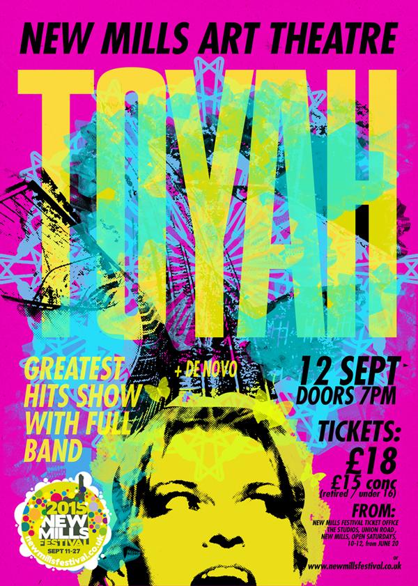 TOYAH gig poster design