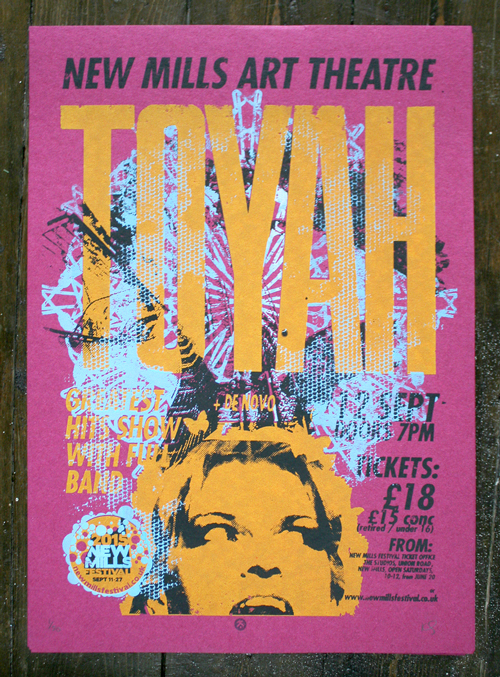TOYAH gig poster screenprint